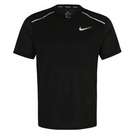 NIKE Koszulka funkcyjna 'Rise' biały / czarny