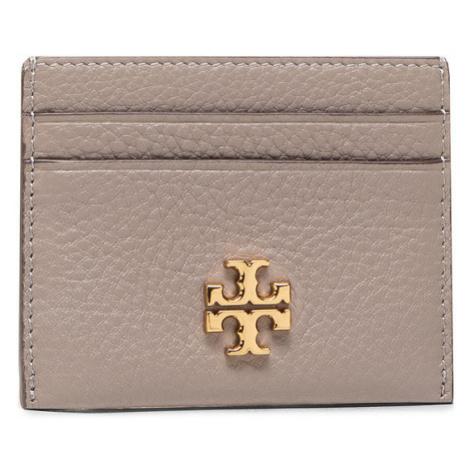 Tory Burch Etui na karty kredytowe Kira Pebbled Card Case 74884 Szary