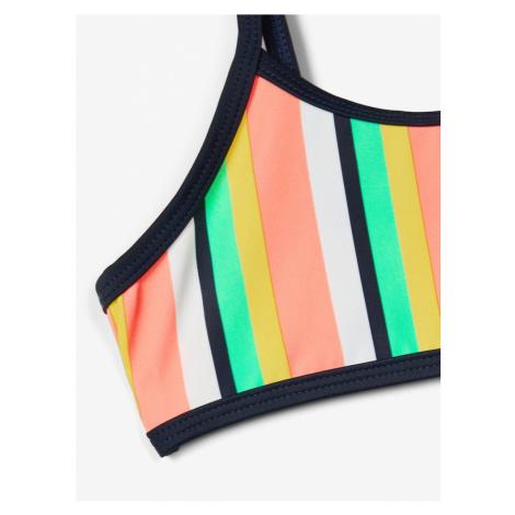 NAME IT Bikini 'Ztripe' biały / jasnozielony / żółty / łososiowy / ciemny niebieski