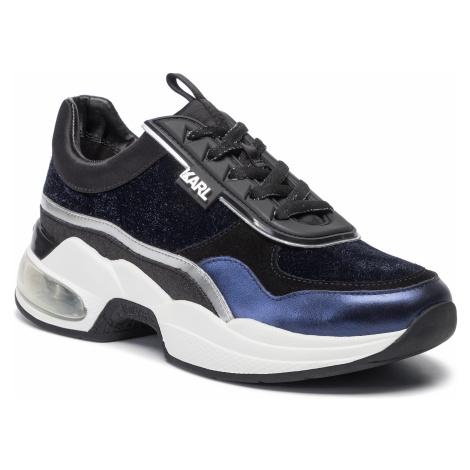 Sneakersy KARL LAGERFELD - KL61724 Navy Mix Texlite