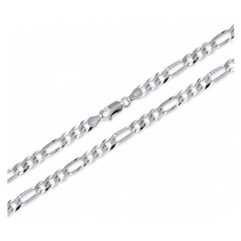 Brilio Silver MęskaŁańcuch wykonane ze srebra Figaro 55 cm 471 086 00166 04 - 15,10 g srebro 925