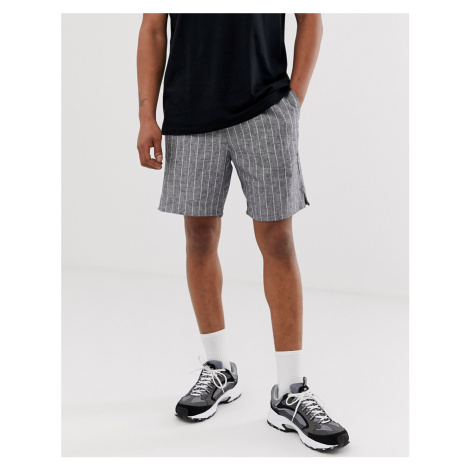 Weekday pillar check shorts in grey