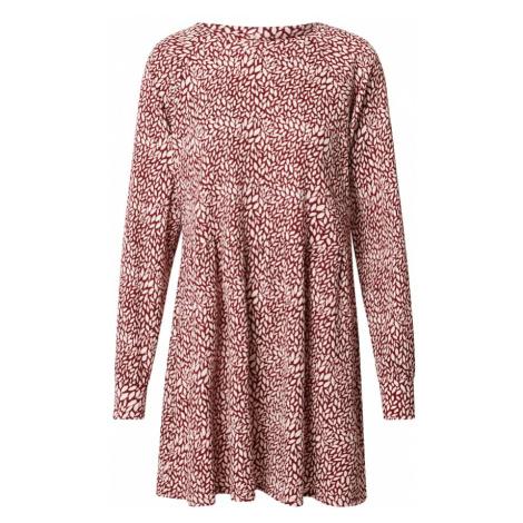 Miss Selfridge Sukienka 'Smock' biały / burgund