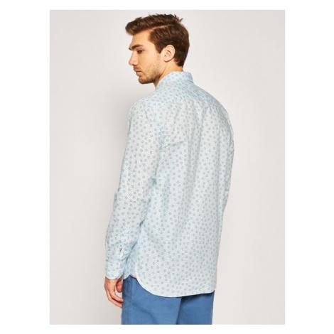 TOMMY HILFIGER Koszula Soft Bouvy Dot Print MW0MW13452 Niebieski Regular Fit