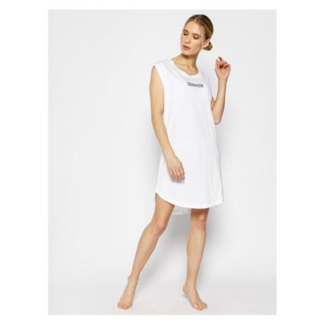 Calvin Klein Swimwear Sukienka plażowa KW0KW01008 Biały Regular Fit