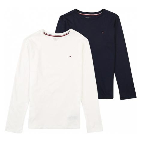 Tommy Hilfiger Underwear Piżama '2P CN TEE LS' biały / czarny