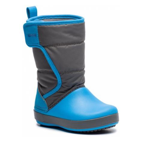 Crocs Śniegowce Logepoint Snow Boot K 204660 Niebieski