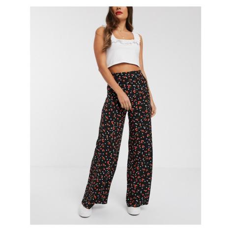Nobody's Child wide leg trouser in poppy floral