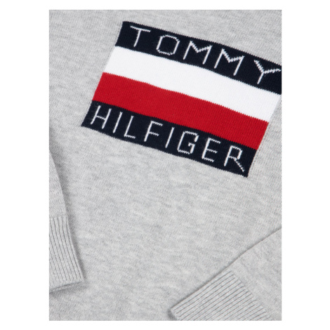 TOMMY HILFIGER Sweter Graphic KB0KB05447 D Szary Regular Fit