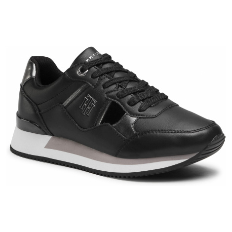 Sneakersy TOMMY HILFIGER - Th Interlock City Sneaker FW0FW05558 Black BDS
