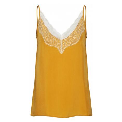 DRYKORN Top 'LETITIA' żółty / biały