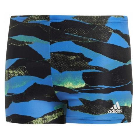 adidas FITNESS GRAPHIC SWIM BOXER BOYS czarny 152 - Kąpielówki sportowe chłopięce