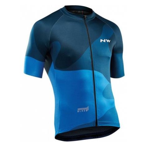 Northwave BLADE niebieski 3XL - Koszulka rowerowa męska North Wave