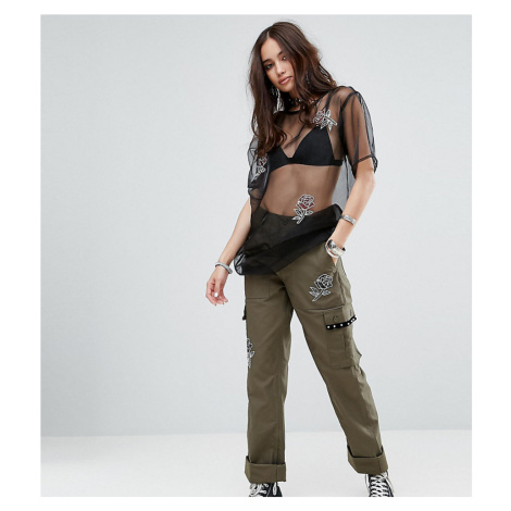 Reclaimed Vintage Revived Military Trousers With Patches
