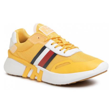 TOMMY HILFIGER Sneakersy Tommy Sporty Branded Runner FW0FW04700 Żółty