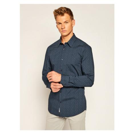 Guess Koszula Sunset M0YH20 W8BX0 Granatowy Slim Fit