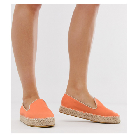 Truffle Collection wide fit flatform espadrille shoes
