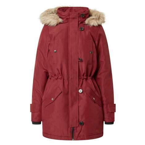 VERO MODA Płaszcz zimowy bordowy / jasnobrązowy
