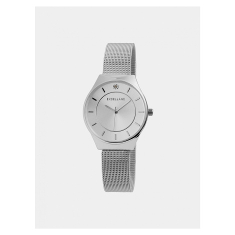 Women's watch with stainless steel belt in silver Excellanc