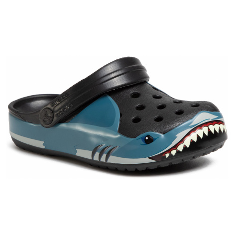 Klapki CROCS - Fun Lab Shark Band Clg K 206271 Black