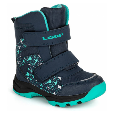 NIKA dziecięce buty zimowe niebieski