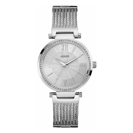 Guess Zegarek Soho W0638L1 Srebrny