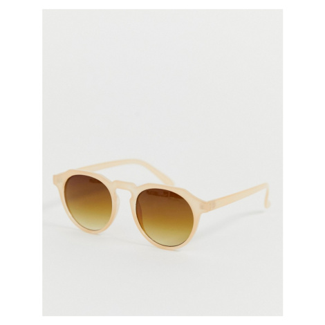 AJ Morgan round sunglasses in beige