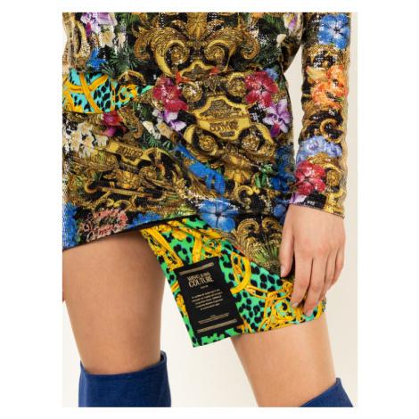 Versace Jeans Couture Sukienka koktajlowa D2HVA446 Kolorowy Regular Fit