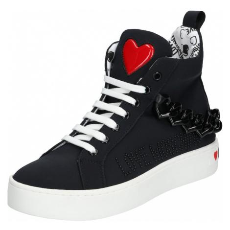 Love Moschino Trampki wysokie 'JA1553' biały / czarny