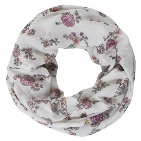 ESPRIT Szalik komin 'RCS_FlowerInfin' różowy pudrowy / offwhite