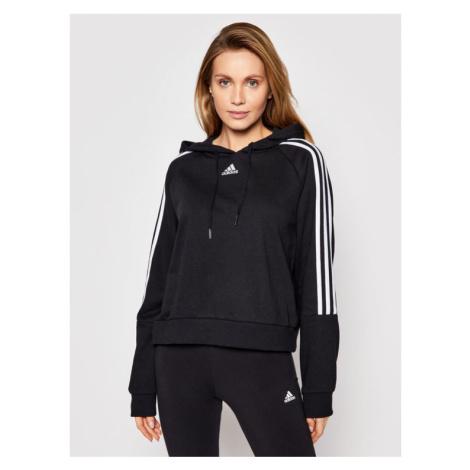 Adidas Bluza W 3S Hd GL1460 Czarny Regular Fit