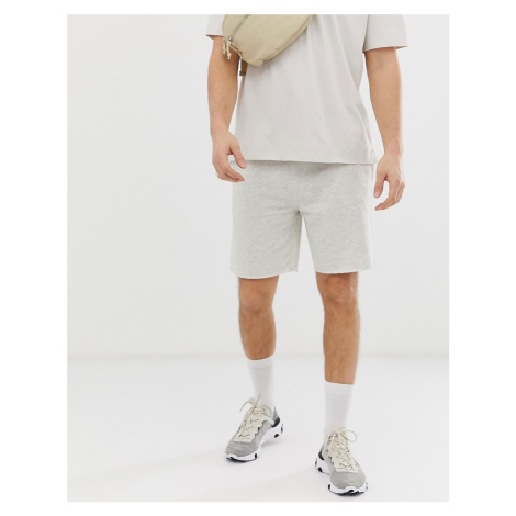 Pull&Bear jogger shorts in light grey Pull & Bear