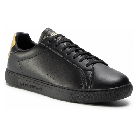 Sneakersy EMPORIO ARMANI - X4X316 XM500 N024 Black/Old Gold Print