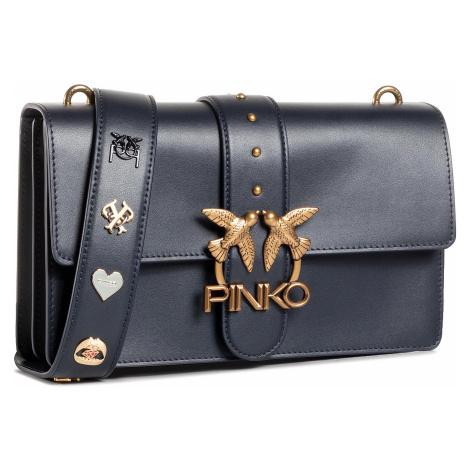 Torebka PINKO - Love Classic Icon Simply Fl AI 20-21 PLTT 1P21SD Y6JC Dark Blue G08