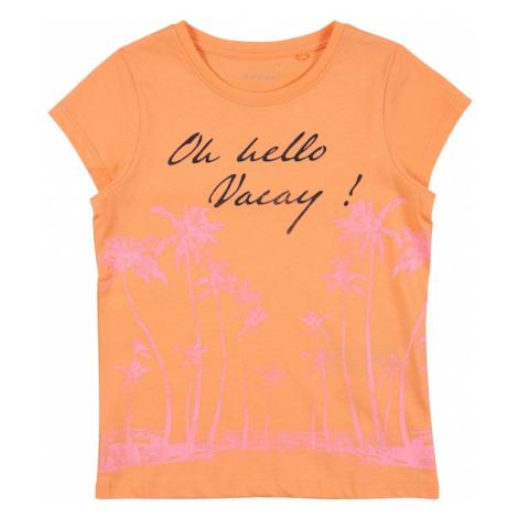 NAME IT Koszulka 'VEEN' pomarańczowy / różowy / czarny
