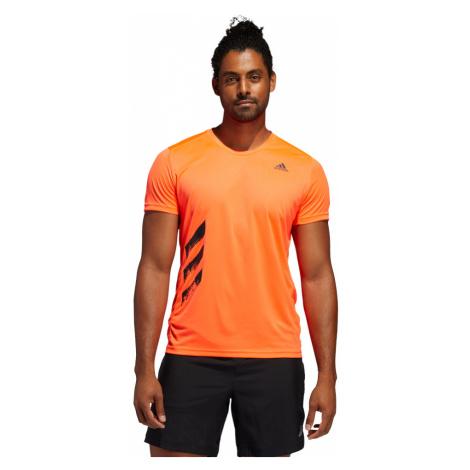 Adidas Run It 3-Stripes PB Tee M Pomarańczowa