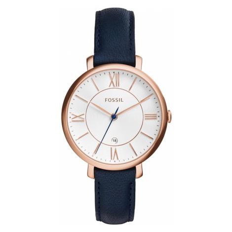 Zegarek FOSSIL - Jacqueline ES3843 Blue/Rose Gold