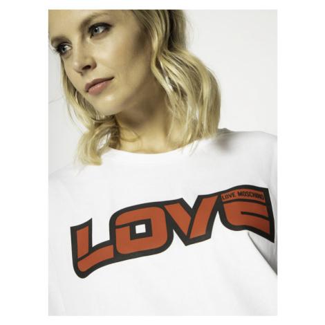 LOVE MOSCHINO Sukienka codzienna W592321M 3876 Biały Regular Fit