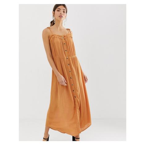 Y.A.S festival cheesecloth button through maxi dress