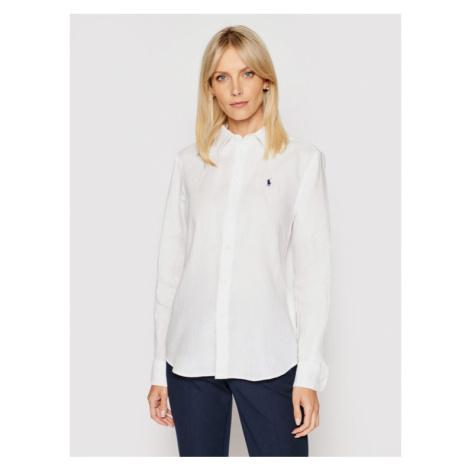 Polo Ralph Lauren Koszula Lsl 211827658005 Biały Relaxed Fit