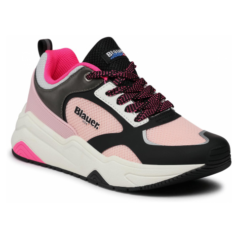 Sneakersy BLAUER - S1TAYLOR01/MES Pink/Black