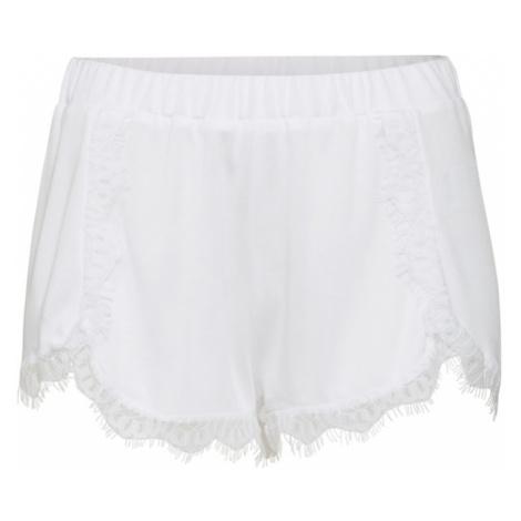 NA-KD Spodnie 'Overlapped Lace Detailed Shorts' biały