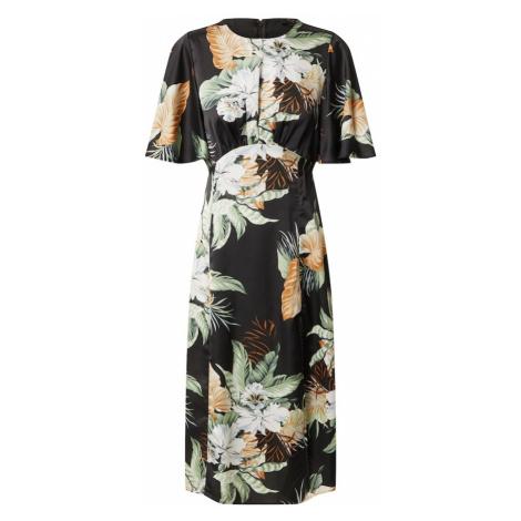 AX Paris Sukienka 'Tropical Split' czarny / zielony / pomarańczowy