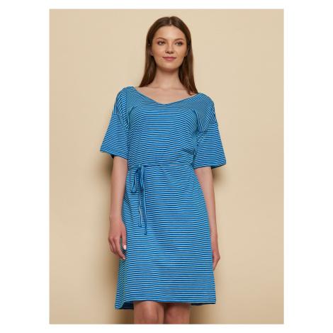 Tranquillo niebieska sukienka w paski Luna