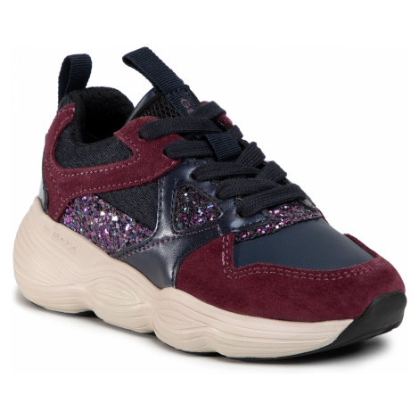 Sneakersy GEOX - J Bubblex G. B J04CNB 05422 CF4F8 S Navy/Prune