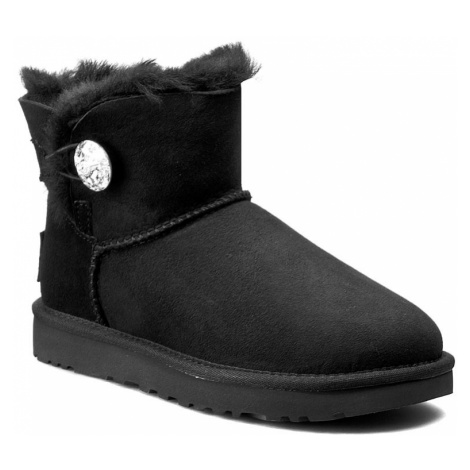 Buty UGG - W Mini Bailey Button Bling 1016554 W/Blk