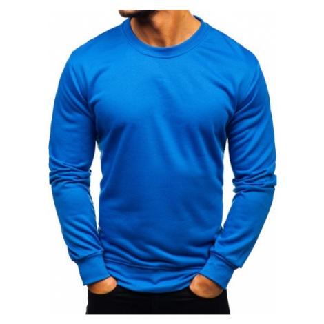 Bluza męska bez kaptura niebieska Denley 22003 J.STYLE