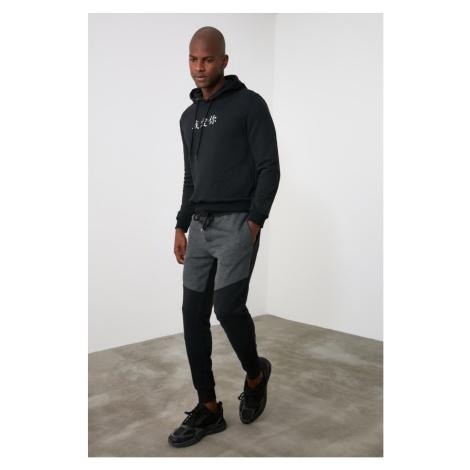 Trendyol Black Men's Paneled Tracksuit bottom