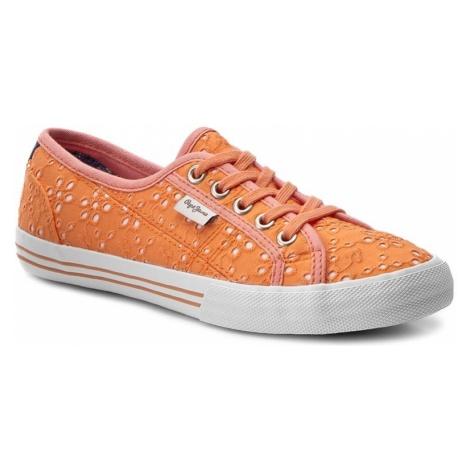 Tenisówki PEPE JEANS - Baker Tie Dye PGS30261 Lt Orange 129