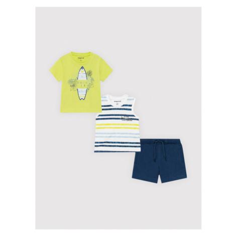 Mayoral Komplet t-shirt, top i spodenki 1672 Kolorowy Regular Fit